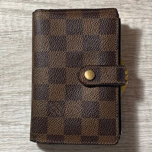 Louis Vuitton Damier Ebene French Clasp Wallet